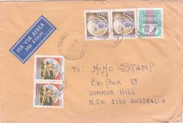 Italy 1992 Cover, Castles, Pair 100 Lire And 150 Lire, Definitive 3000 L Sent To Australia - 6. 1946-.. Republic