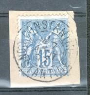 Y & T N° 90 OBLITERATION CONSTANTINE SUR FRAGMENT - 1876-1898 Sage (Type II)