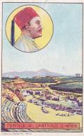 CHROMO IMAGE  TUNISIE CARTHAGE  LE THEATRE LIBRAIRIE HACHETTE   SCANS RECTO VERSO - Géographie