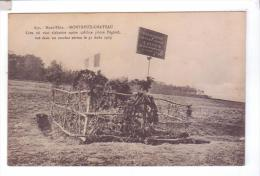 68 MONTREUX CHATEAU Lieu Ou Vint S'abattre Le Pilote Pegoud Combat Aerien Avion 1915 - Autres Communes