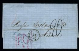 FRANCE - LETTRE ( Sans Texte) De PORTO CABELLO POUR LE HAVRE   TAXE  20 EN   1870   A VOIR  2 LOT P3870 - Marcophilie (Lettres)