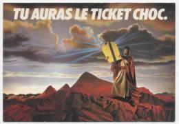 "PUBLICITE  L 8   ""  LE BUS / LE METRO   "" ED.  NUGERON  1983     CPM 10 X 15  NEUVE - Werbepostkarten"