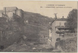 Cpa 07 Ardeche   Largentiere Le Chateau Et La Riviere - Largentiere