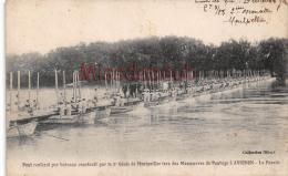 84 - AVIGNON - Pont Renforcé Par Bateaux Par Le 2éme Génie De Montpellier - Soldats Militaires Militaria - 2 SCANS - Avignon