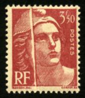 FRANCE - YT 716B - MARIANNE DE GANDON 3F50 PLI ACCORDEON - TIMBRE NEUF ** - Varieties: 1945-49 Mint/hinged