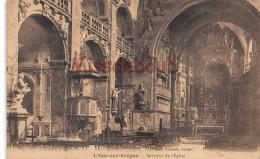 84 - Isle Sur Sorgue - Intérieur De L'Eglise - Dos Vierge - 2 SCANS - Sorgues