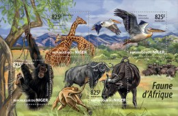 Niger. 2015 African Fauna. (201a) - Timbres