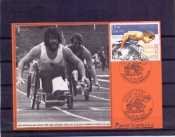 België -Phileuro - Sport - 1e Dag -  Brussel 8/5/2000   (RM8185) - Handisport