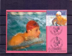 België  - Phileuro - Sport -  Brussel  5/5/2000  (RM8189) - Natation