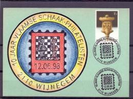 Belgi� - 10 jaar vlaamse schaak - philatelisten  - Wijnegem  12/6/98  (RM8614)