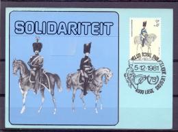 België - Club Royal Philatélique Liegeois - Liège  5/12/1981  (RM8749) - Police - Gendarmerie