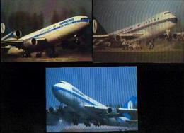 AVIONS SABENA - Lot De 3 Cartes Postales Neuves - Aviation Commerciale