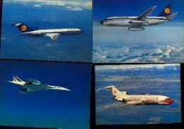AVIONS - Lot De 15 Cartes Postales Neuves - Aviation Commerciale