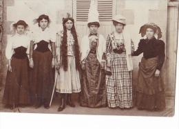 24360 Carte Photo Femmes Deguisee Theatre ?  -sans Indications