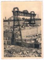 Carrières De Scouffleny - Ecaussines, Nouveau Siège D'extraction Avec Pont Portique / Circulée En 1949 - 2 Scans - Ecaussinnes