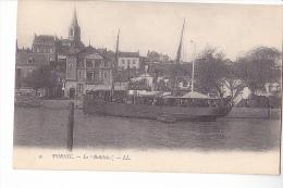 24363  PORNIC  44 France- LE BELLILOIS Bateau Belle Ile -vapeur Voilier -ed LL 9 - Pub Jeune Tailleur Paris
