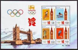 Sri Lanka 2012 London Olympic Games MHN MS - Sri Lanka (Ceylon) (1948-...)