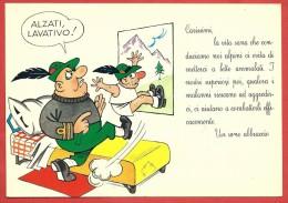 CARTOLINA NV ITALIA - ALPINI - Alzati Lavativo - Umoristica - Garami - 10 X 15 - Umoristiche