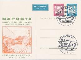 Berlin 1963  Privatganzsachen Karte  NAPOSTA - Berlin (West)