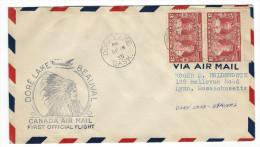 CA - FIRST FLIGHT DORÉ LAKE - BEAUVAL  1935 - Premiers Vols