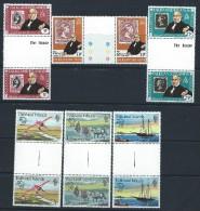 Falkland Islands 1979 - Rowland Hill & Centenary Of UPU Membership Gutter Pairs MNH Cat £4.70+ SG2015 - See Notes - Falkland Islands