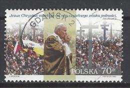 POLEN Mi-Nr. 3769 - 6. Besuch Von Papst Johannes Paul II. In Polen Gestempelt - 1944-.... Republik