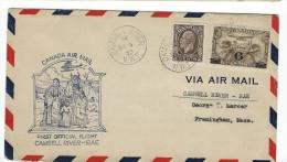 CA - FIRST FLIGHT CAMSELL RIVER - RAE 1933 - Premiers Vols