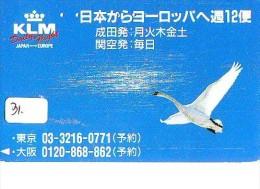 TELEFOONKAART Japan *  KLM * VLIEGTUIG * AVION (31) AIRPORT * AIRPLANE * PHONECARD * TELECARTE JAPON * FLUGZEUG * BIRD - Vliegtuigen