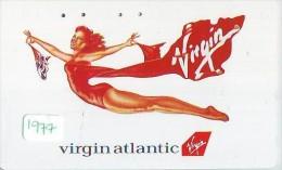 Télécarte Japon * VIRGINATLANTIC  (1977) Japan Phonecard Airplane * Flugzeug Avion * AVION * AIRLINES * - Airplanes