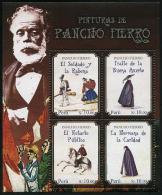 Peru (2014) - Block -  /  Pancho Fierro - Art - Paintings - Peintres - Pintura - Horse - Musical Instrument - Costumes - Kunst