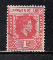 "Leeward Islands Used Scott #105 SG #99a 1p George VI ""DI´ Flaw Crown Partially Covers - Leeward  Islands"