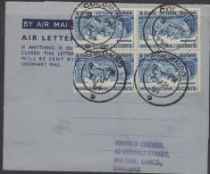 O) 1954 SRI LANKA - CEYLON, ELEPHANTS, PROCESSIONS ROYAL, COVER TO ENGLAND - Sri Lanka (Ceylon) (1948-...)
