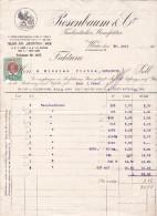 ROSENBAUM & CO,TASCHENTUCHER MANUFACTUR,1911,FAKTURA WIEN AUSTRIA.IMPRINTED POSTAGE 2h. - Austria