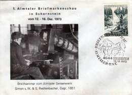 Österreich 1973 - 1.Almtaler Briefmarkenschau In Scharnstein - 2 ÖS Auf Brief - Abarten & Kuriositäten