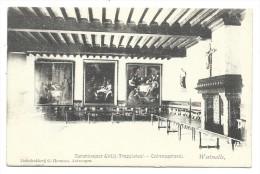 CPA - WESTMALLE - Cistercienzer Abdij - Trappisten - Ontvangstzaal - Abbaye - Cachet Relais   // - Malle
