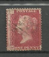 UK  Grande Bretagne QV 1d Red SG 43-44   Plate 97 ,letters M- I - 1840-1901 (Viktoria)