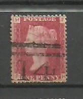 UK  Grande Bretagne QV 1d Red SG 43-44   Plate 117 ,letters F - H - 1840-1901 (Viktoria)