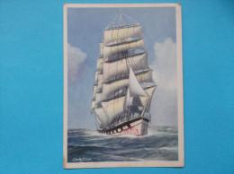 QUATRE MATS : NAVIGANT BABORD AMURE (début XXiéme Siécle) ,C.P.M.. Carte En Trés Bon état, - Sailing Vessels