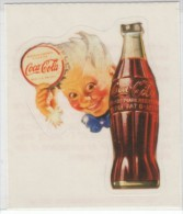 Coca-Cola Sticker, Boy With Bottle And Bottle Cap, Italy Issued Sticker Decal - Coca-Cola