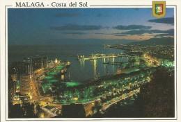 PR1731 - POSTAL - MALAGA - VISTA NOCTURNA DESDE GIBRALFARO - Málaga