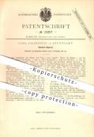 Original Patent - Carl Lilienfein In Stuttgart , 1881 , Gaskoch Apparat , Gaskocher , Gasherd , Herd , Kochen !!! - Historische Dokumente
