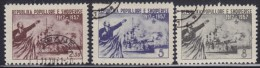 Albania 1957 ; 40 Years Since October Revolution, Used (o) Michel 550-552 - Albanie