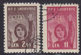 Albania 1960 ; 8th March - International Women's Day, Used (o) Michel 591-592 - Albanie