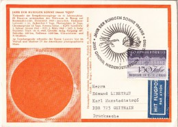 1965 Austria Post Cover SPACE  ASTRONOMY - YEAR OF THE CALM SUN - Very RARE !!!!!!!!!!!!!!!!!!!!!!!!!!!!!! - Sterrenkunde