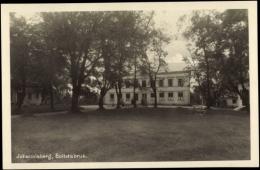 Photo Cp Bollstabruk Johannisberg Schweden, Gebäude Mit Garten, Außenansicht - Zweden