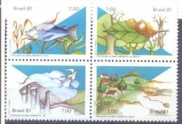 1981. Brazil, Mich.1829-33, Environment, 4v, Mint/** - Brésil