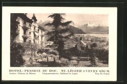 CPA St. Légier Sur Vevey, Hotel Pension Du Roc - VD Vaud