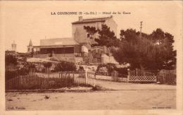 ALTE AK  LA COURONNE / Dep. B.-du-R. - Hotel De La Gare - 1915 Ca. - Autres Communes