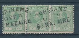 EB035 - SURINAME - Bande De 3 TP Wilhelm Annulés SURINAME Over ST NAZAIRE - Suriname ... - 1975