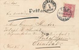 EB036 - SURINAME Incoming Mail - Carte- Vue TP Germania COLN 1900 Vers TRINIDAD Via PARAMARIBO - Surinam ... - 1975